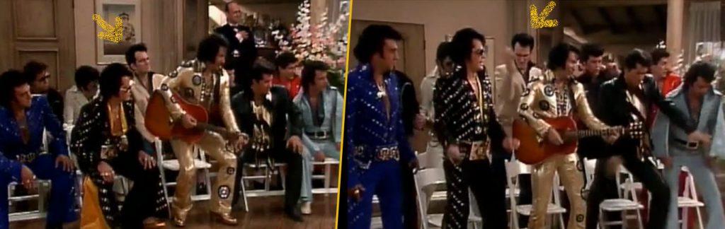Quentin Tarantino, figurant en Elvis Presley dans un épisode d'une sitcom culte des année 80.