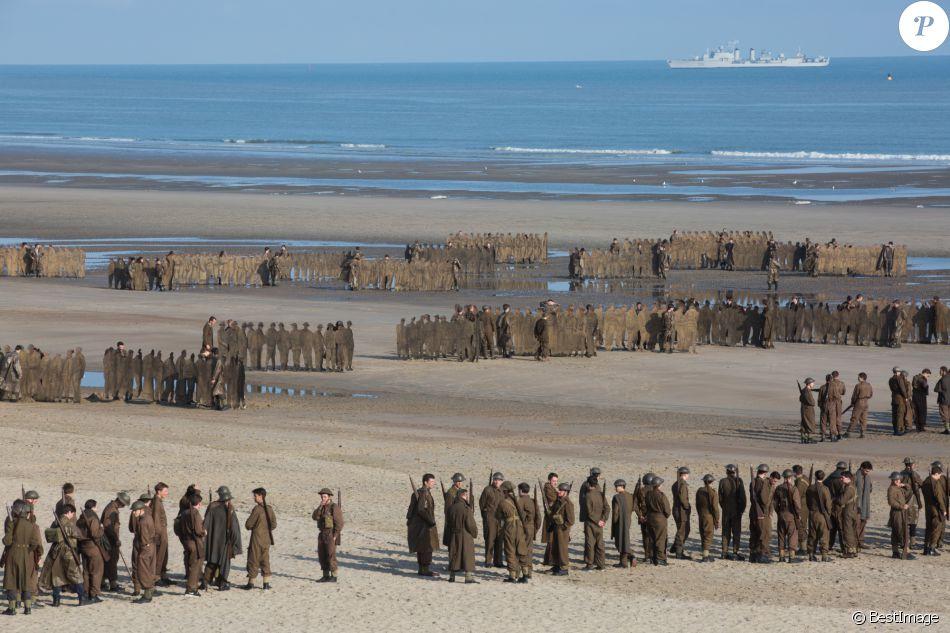 figurants sur le tournage du film Dunkerque