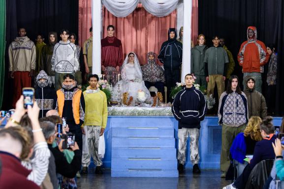 Défilé automne-hiver 2020-21 de Paria Farzaneh à la London Fashion Week masculine