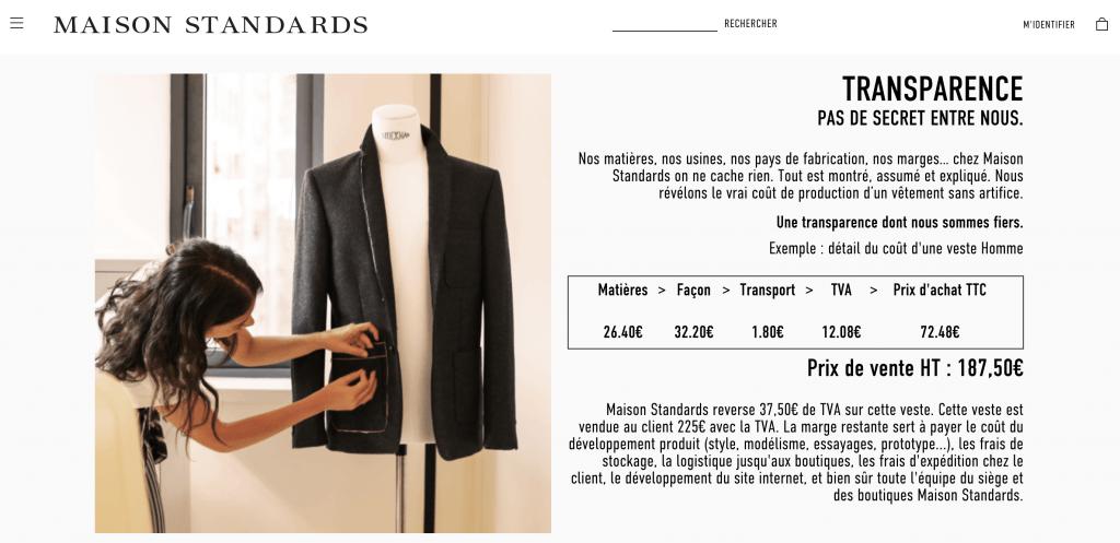 Concept de la marque Maison Standards