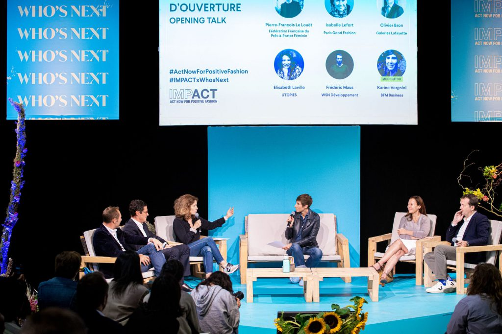Entretien avec Isabelle Lefort, la fondatrice de l'initiative de Paris Good Fashion lors du Who's Next en septembre 2019